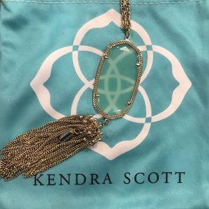 Kendra Scott Rayne pendant necklace chalcedony